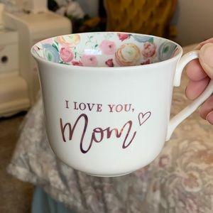 Floral Ceramic Mug GIFT for MOM - Flowers